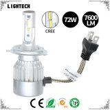 자동 맨 위 램프 노랗거나 파란 또는 백색 색깔 헤드라이트 9006 LED 헤드라이트를 가진 자동차 & 기관자전차 차 헤드라이트