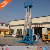 Levage hydraulique d'homme du mât un d'alliage d'aluminium de vente d'usine de la Chine de la CE double