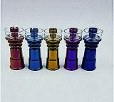 유리제 연기가 나는 관을%s 1개의 Domeless 소음이 나는 고물차 티타늄 못에 대하여 도매 다채로운 6