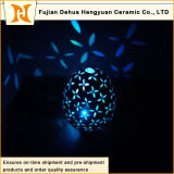 Circular de cerámica del color de la lámpara de la chimenea