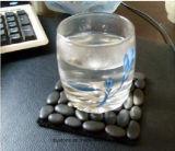Циновка желтых/черноты/белых каменная чашки для украшения Placemat