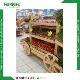 Супермаркет дисплей фруктов и овощей для установки в стойку с ящиками