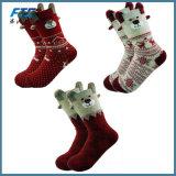 Weihnachtsbaumwollweihnachten trifft Frauen Meia Sokken Weihnachten hart