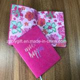 Thermo Обесцветить провод фиолетового цвета кожи A5 повестки дня Capacity Planner дневник ноутбук с золотым тиснение дизайн