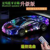 De kleurrijke Transparante Mini LEIDENE van de Auto van het Stuk speelgoed Ferrari Lichte Draadloze Spreker van Prtable Bluetooth voor PC, Telefoon