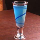 Tazza fredda della bevanda della spremuta della tazza di forma di v di frutta del succo di Drinkware della tazza di vetro di vetro senza piombo della bevanda