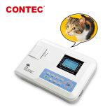 Экг Contec100g-Vet портативный Одноканальная ЭКГ животных ветеринарные мониторы