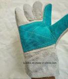 Цветные защитные перчатки, коровы Split кожаные перчатки работы