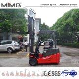 De Elektrische Vorkheftruck van Mima met de Zij Facultatieve Batterij van de Dia