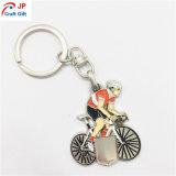 Metal feito sob encomenda Keychain da forma do Bicycler da alta qualidade