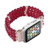Le rouge à la mode de bijou perle la courroie de Rhinestone pour la bande de montre sèche d'Apple