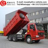 HOWO 덤프 트럭 팁 주는 사람 트럭 20 입방 미터 덤프 트럭