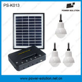 4W iluminación solar calificada del hogar del kit de los bulbos del panel solar LED con la carga del teléfono