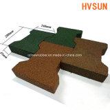 Azulejo de suelo de goma al aire libre de la venta caliente para el patio con el certificado de la altura de la caída En1177