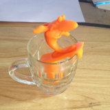 Новая конструкция серфинг акула форма силиконового герметика для приготовления чая и кофе Infuser сетчатого фильтра