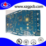 PCB 2 capas de máscara de soldadura con azul y oro químico