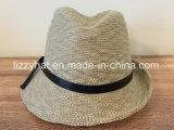 夏の帽子のばねの帽子の革バンドが付いている方法によって編まれる不規則な縁の帽子