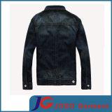 Slim Frosted Breathable Men Cotton Denim Jacket (JC7049)のヨーロッパのVersion