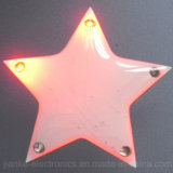 Logo Printed (3161)를 가진 LED Flashing Blinking Star Pins