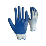 Workman 13G Polyester des gants en nitrile Palm Zebra l'emballage personnalisé