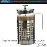 El chino Heat-Resisting olla de café de cristal con acero inoxidable