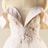 Neue Spitze, die Strand-Hochzeits-Kleid bördelt