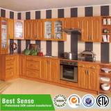 De vlakke Ontwerpen van de Keukenkast van pvc van het Pak Moderne