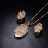 18K het goud plateerde de Bruids Reeks van de Halsband van de Juwelen van de Dames van het Huwelijk Nieuwe