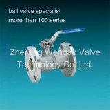 Válvula de bola 1PC con los extremos de brida, ANSI Clase 150lb 1piece