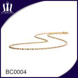 형식 교차하는 펜던트를 위한 2.0mm 착색된 금속 구슬 사슬 목걸이