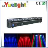 Farbenreiches 8PCS 10W LED Stadiums-bewegliches Hauptdisco Sharpy Träger-Licht