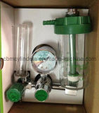 O2加湿器のびんが付いているクリック様式の酸素の流量計
