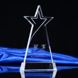 Plaque en cristal en verre chaude Quliaty élevé de récompense