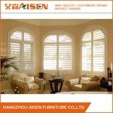 Blanc pur Cuisine fenêtre en bois de plantation d'obturation décoratif
