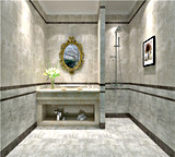 Sn6202無作法なタイルのセメントの石のフロアーリングの浴室のタイル