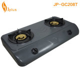 Fornello di gas grigio di Buner del pannello 2 del rivestimento (JP-GC208T)