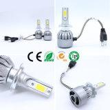 farol H7 do diodo emissor de luz 7600lm e barra clara do diodo emissor de luz com o farol do diodo emissor de luz C6 da fábrica em China