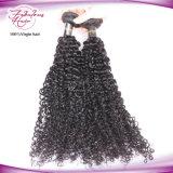 100% Virgem Remy peruana curly tece extensões de cabelo humano