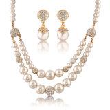 La parte superior de cristal Venta de prendas de vestir de perlas de vidrio de imitación Bisutería Set