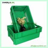 E sistemabile contenitore scaricato plastica accatastabile per frutta e le verdure