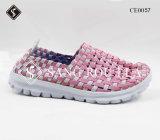 軽いOutsoleの最上質の女性の織り方の余暇の靴