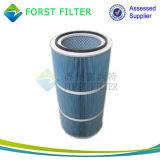 Cartucho de filtro cilíndrico do ar Forst Polyester