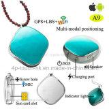 Perseguidor super direto de venda quente do GPS da fábrica mini para miúdos/pessoas idosas/animal de estimação A9