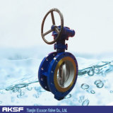 Manopola Type Full 304/304L/316/316L Flanged Butterfly Valve