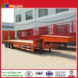 13m de comprimento / Lowboy Lowbed semi reboque para transporte da máquina