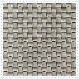Mosaico di pietra caduto di marmo bianco 3D per le mattonelle della parete