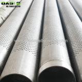 O tamanho do orifício de 10 mm API J55/N80 Tubo de tampa de Aço Perfurado