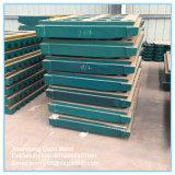 Zerkleinerungsmaschine-Teil-Mangan-Stahl-Zwischenlage-Platten-Hochleistungskiefer flicht