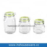 Reeks van 3, de Duidelijke Reeks van de Kruik van het Glas, de Reeks van de Kruik van de Opslag van het Glas