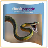 Publicité Banner Stand / Tension Fabric Display (10FT S Curved)